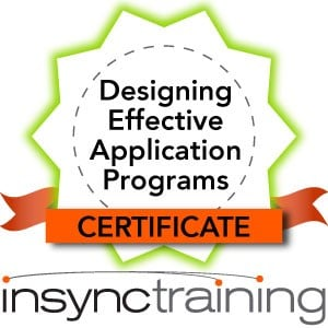 Designing Effective Application Programs for the Virtual Classroom Certificate